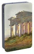 Landscape At Paestum Portable Battery Charger