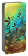 Landscape Bird Original Painting Family Time By Madart Portable Battery Charger
