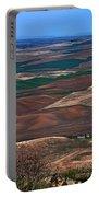 Landscape Of Rolling Farmland Steptoe Butte Washington Art Prints Portable Battery Charger