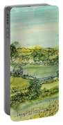 Landscape Pen & Ink With Wc On Paper Portable Battery Charger
