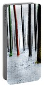 Landscape Winter Forest Pine Trees Portable Battery Charger