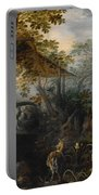 Landscape With Animals Portable Battery Charger