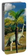 Landscape With Dinosaurs Portable Battery Charger