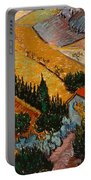 Landscape With House And Ploughman Portable Battery Charger