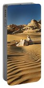 Landscape With Mountains In Egyptian Desert Portable Battery Charger