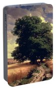 Landscape With Oaks Portable Battery Charger
