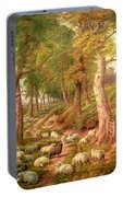 Landscape With Sheep Portable Battery Charger