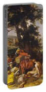 Landscape With The Ministry Of John The Baptist Portable Battery Charger
