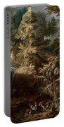 Landscape With The Temptation Of Saint Anthony Portable Battery Charger