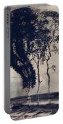 Landscape With Three Trees Portable Battery Charger by Victor Hugo