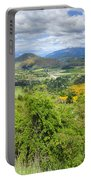 Landscape With Winding Road Portable Battery Charger