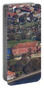 Landskrona Citadel Photographed From The Air Portable Battery Charger