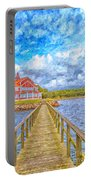 Landskrona Sea Shore Painting Portable Battery Charger