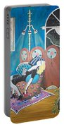 Languid Lady In A Chair Brooding Over Poetry Portable Battery Charger