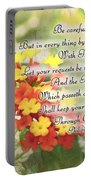 Lantana Greeting Card With Verse Portable Battery Charger