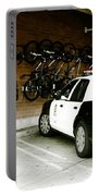 Lapd Cruiser And Police Bikes Portable Battery Charger by Nina Prommer