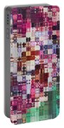 Large Blocks Digital Abstract - Purples Portable Battery Charger