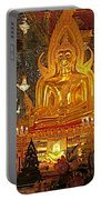 Large Buddha Image In Wat Tha Sung Temple In Uthaithani-thailand Portable Battery Charger