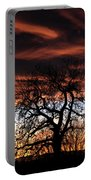 Large Cottonwood At Sunset Portable Battery Charger