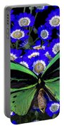 Large Green Butterfly Portable Battery Charger