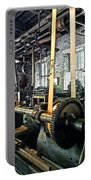 Large Lathe In Machine Shop Portable Battery Charger