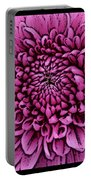 Large Pink Dahlia 2 Portable Battery Charger