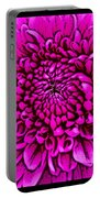 Large Pink Dahlia Retro Style Portable Battery Charger