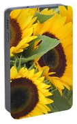 Large Sunflowers Portable Battery Charger