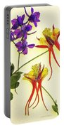 Larkspur And Columbine Portable Battery Charger