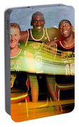 Larry Bird Michael Jordon And Magic Johnson Portable Battery Charger