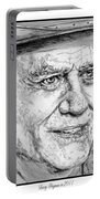 Larry Hagman In 2011 Portable Battery Charger by J McCombie