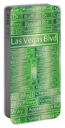 Las Vegas Street Road Signs  Portable Battery Charger