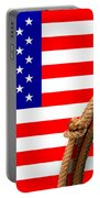 Lasso And American Flag Portable Battery Charger