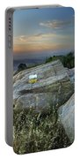 Last Light At The Windy Mountains Portable Battery Charger