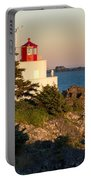 Last Light On Amphritite Lighthouse Portable Battery Charger