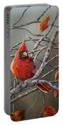 Last Of Fall Cardinal Portable Battery Charger