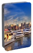 Late Afternoon At Constitution Marina - Charlestown Portable Battery Charger