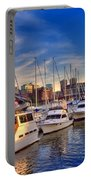 Late Afternoon At Constitution Marina - Charlestown Portable Battery Charger by Joann Vitali