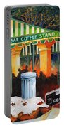 Late At Cafe Du Monde Portable Battery Charger