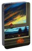 Late Autumn Breeze By Christopher Shellhammer Portable Battery Charger