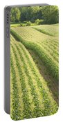 Late Summer Corn Field In Maine Portable Battery Charger