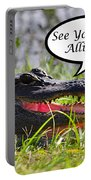 Later Alligator Greeting Card Portable Battery Charger by Al Powell Photography USA