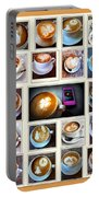 Latte Art Collage Portable Battery Charger