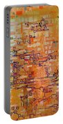 Lattice Animals Abstract Oil Painting By Regina Valluzzi Portable Battery Charger