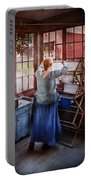 Laundry - Miss Lady Blue  Portable Battery Charger