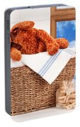 Laundry With Teddy Portable Battery Charger