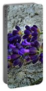 Lavender On White Stone Portable Battery Charger