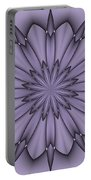Lavender Abstract Flower Portable Battery Charger