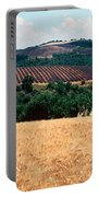 Lavender And Corn Fields In Summer Portable Battery Charger