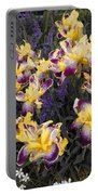 Lavender And Irises Portable Battery Charger